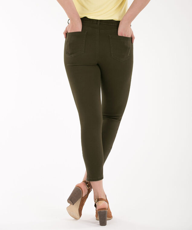 Fly-Front Ankle Zipper, Olive, hi-res