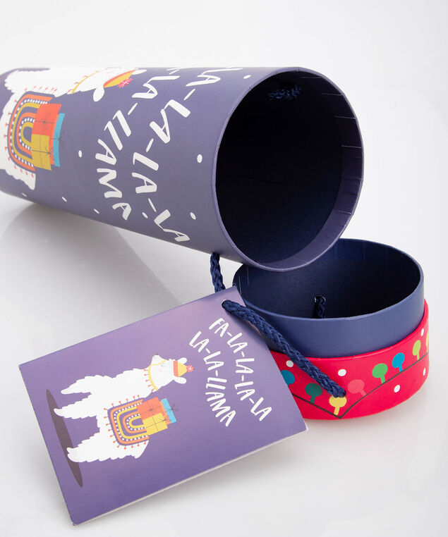 Fa La La Llama Wine Tube, True Navy/Pearl, hi-res