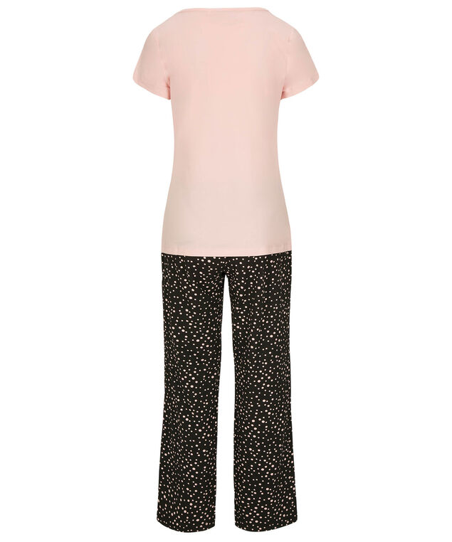 Sleepy Sheep Pajama Set, Pink/White/Black, hi-res