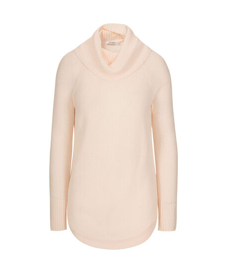 Cowl Neck Pullover Sweater, Iced Peach, hi-res