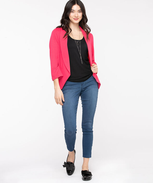 Terry Shawl Collar Cover Up, Rouge Red