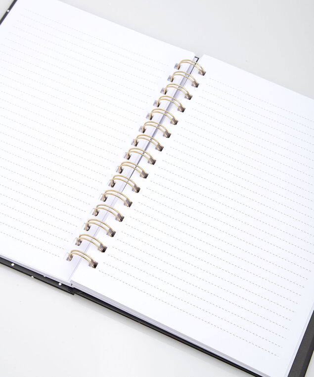 Happy Thoughts Spiral Notebook, Black/Gold, hi-res