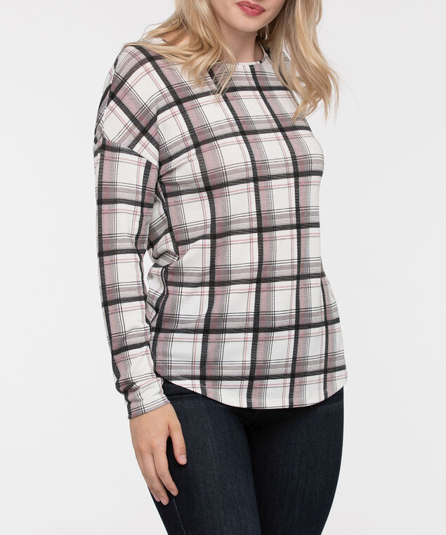 Long Sleeve Drop Shoulder Top, Grey/Dusty Pink/Pearl/Black, hi-res