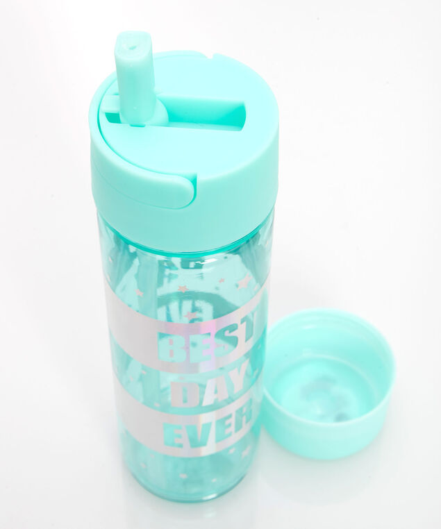 Best Day Ever Water Bottle, Soft Teal, hi-res