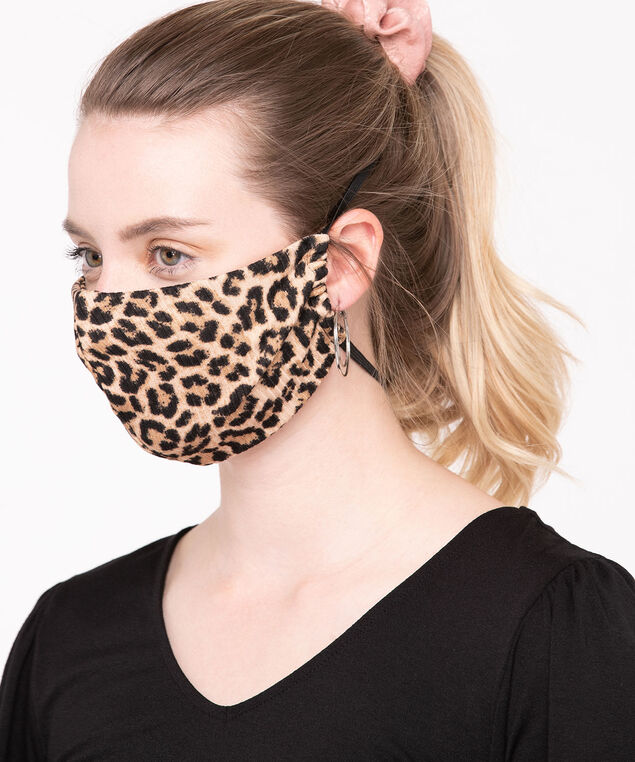 2 Pack of Face Masks, Black/Sand/Mocha, hi-res
