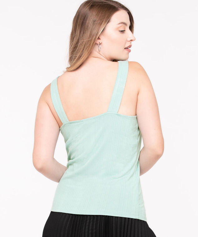 EcoVero™ Sleeveless Buckle Top, Sage, hi-res