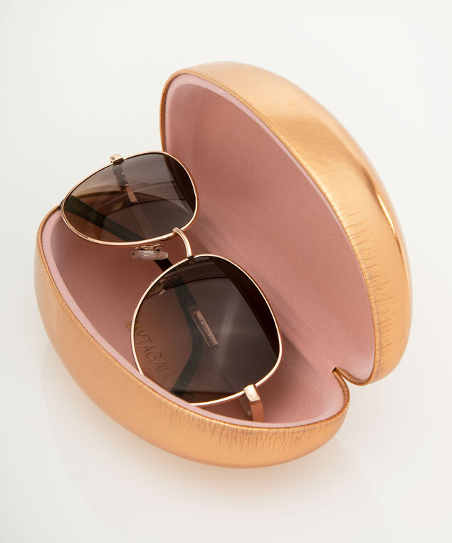 Sun Goddess Hard Sunglass Case, Rose Gold, hi-res