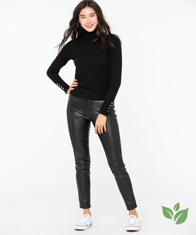 EcoVero™ Turtleneck Pullover Sweater, Black, hi-res