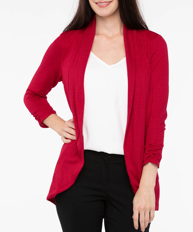 Shawl Collar Cardigan, Crimson, hi-res