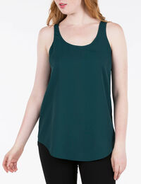 SCOOP NECK WOVEN LAYERING CAMI