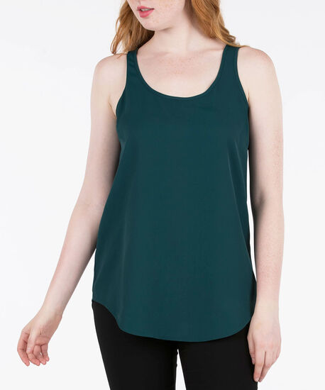 Scoop Neck Woven Layering Cami by Ricki's