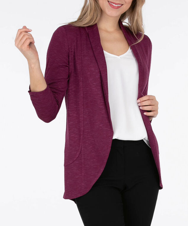 Shawl Collar Cardigan, Black Cherry, hi-res