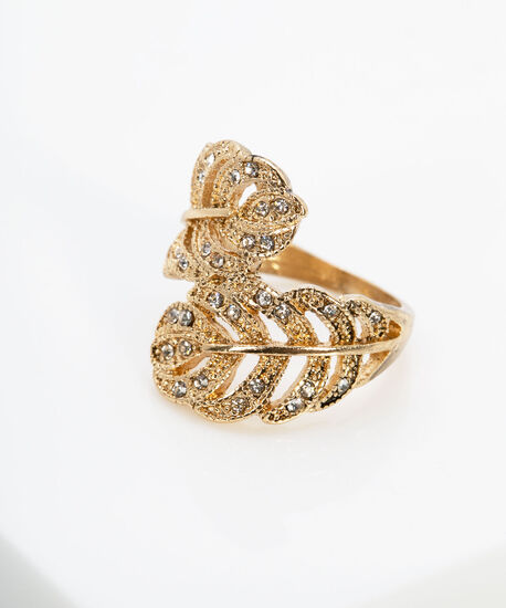 Feather Wrap-Around Ring, Gold, hi-res