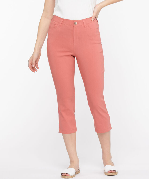 Microtwill Pull-On Crop Pant, Dusty Rose
