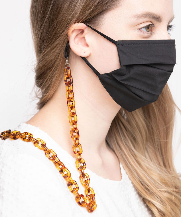 Tortoise Shell Link Mask Chain, Brown