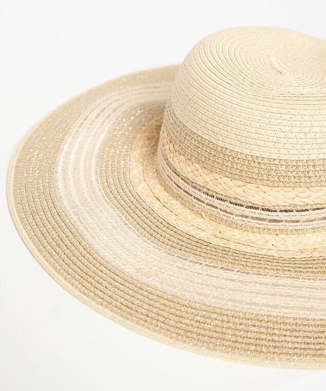 Sparkly Straw Sun Hat, Natural, hi-res