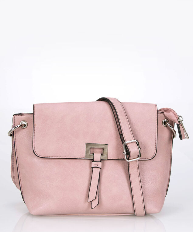Top Flap Crossbody Bag, Cameo Pink/Black, hi-res