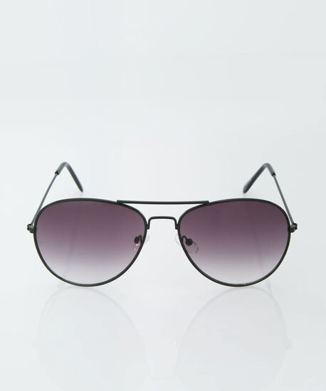 Black Aviator Sunglasses, Black, hi-res
