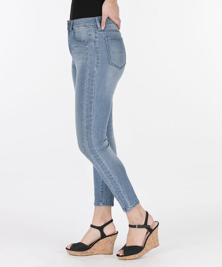 Side Insert Light Wash Ankle Jean, Light Wash, hi-res