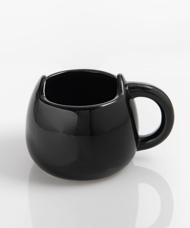 Minimalist Cat Jumbo Mug, Black/Rose Gold, hi-res