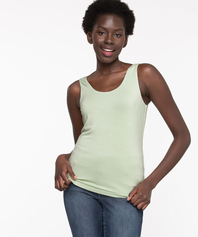 Double Layer Smoothing Cami, Sea Foam