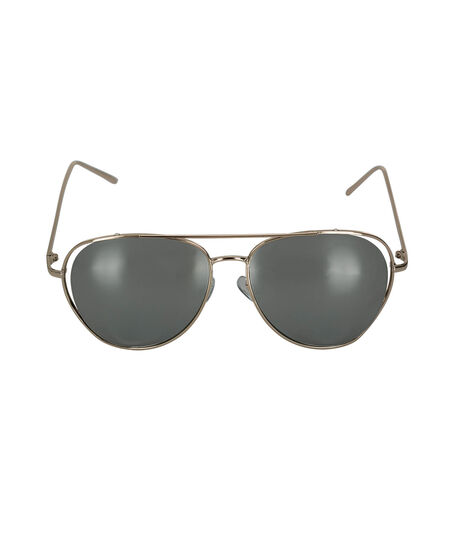 Oversized Aviator Sunglasses, Gold, hi-res