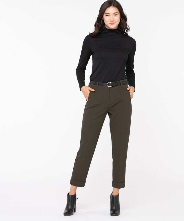 Jersey Turtleneck Pullover, Black, hi-res