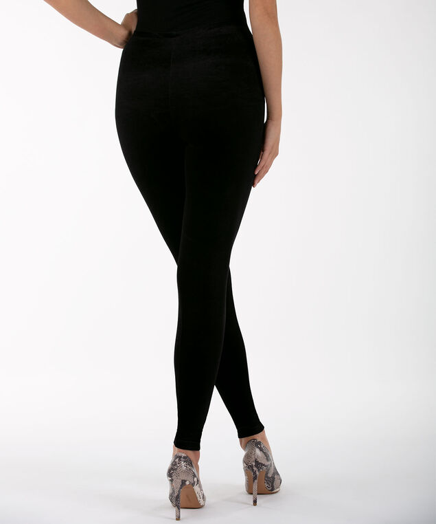 Velour Legging, Black, hi-res
