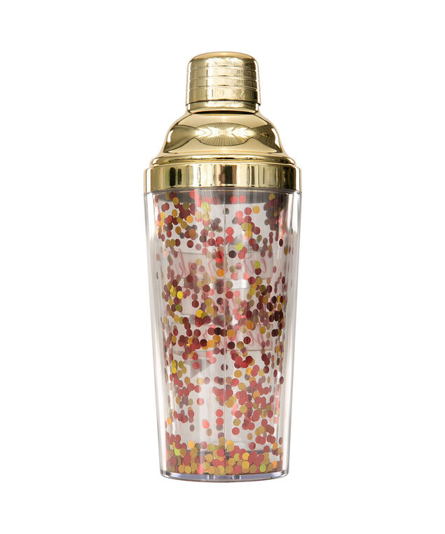 Festive Cocktail Shaker, Red/Gold/Clear, hi-res
