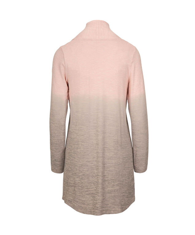 Ombre Open Tunic Cardigan, Pastel Pink/Grey, hi-res