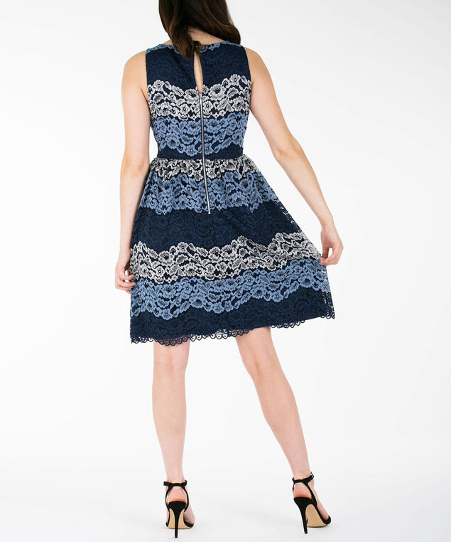 3cbe298c4 Lace Overlay Fit  amp  Flare Dress