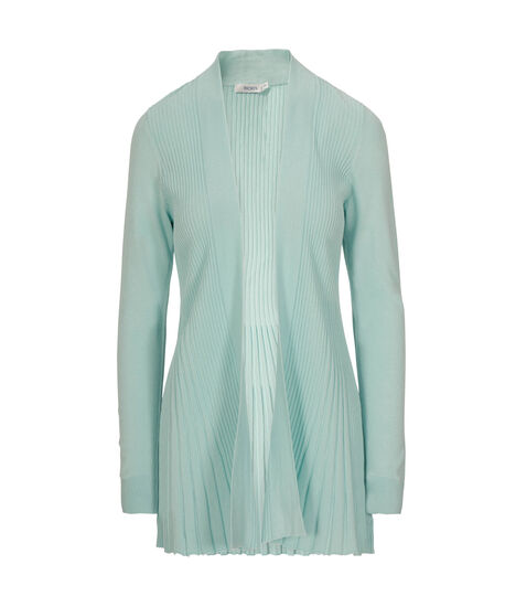 Ribbed Tulip Cardigan, Cool Mint, hi-res