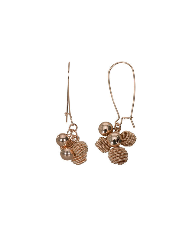 Bead Cluster Drop Earring, Soft Rose Gold, hi-res