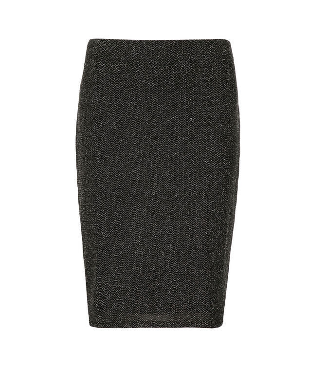 Sparkly Pencil Skirt, Black/Silver, hi-res