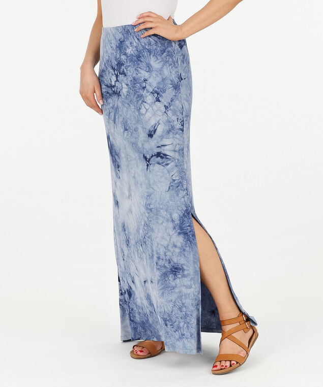 Tie Dye Maxi Skirt, Summer Navy/Light Blue, hi-res