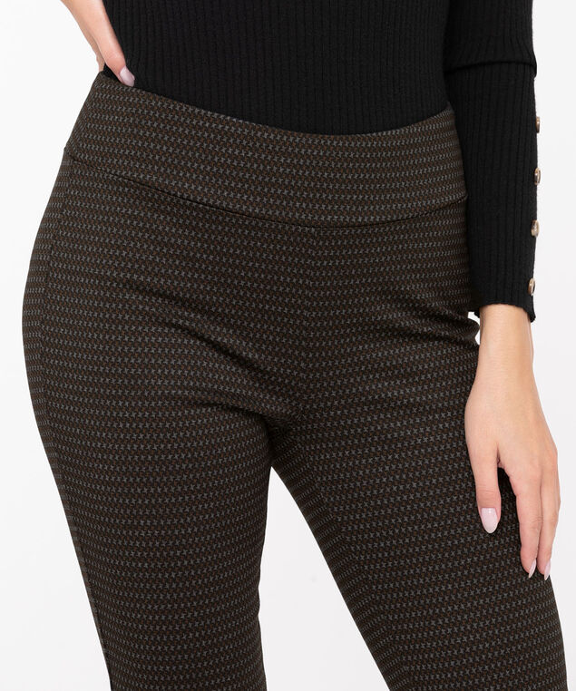 Patterned Ponte Legging, Black/Grey/Rust, hi-res