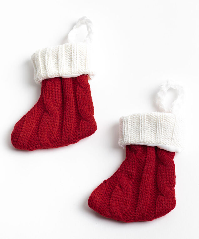 Stocking Cutlery Holder 2-Pack, Red/White