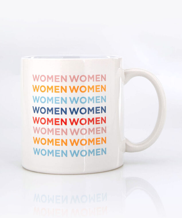 Women Mug, True White/Cameo Pink/Tangerine, hi-res