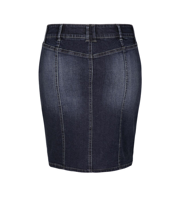 Dark Wash Denim Skirt, Dark wash, hi-res