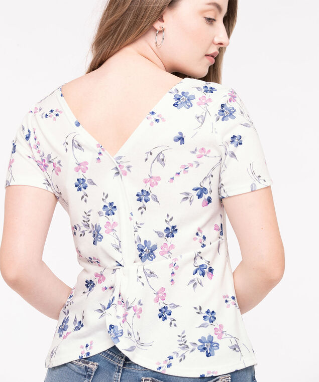 Scoop Neck V-Back Top, Pearl/Light Blue/Rose Petal, hi-res