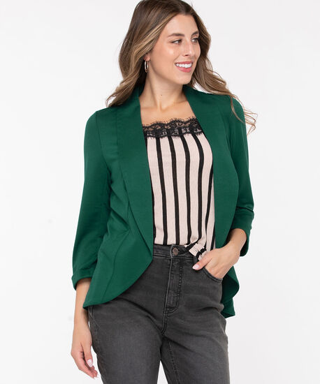Terry Shawl Collar Cover Up, Cypress, hi-res