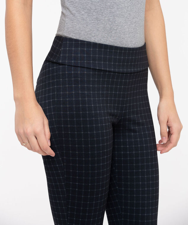 Navy Plaid Legging, Summer Navy, hi-res