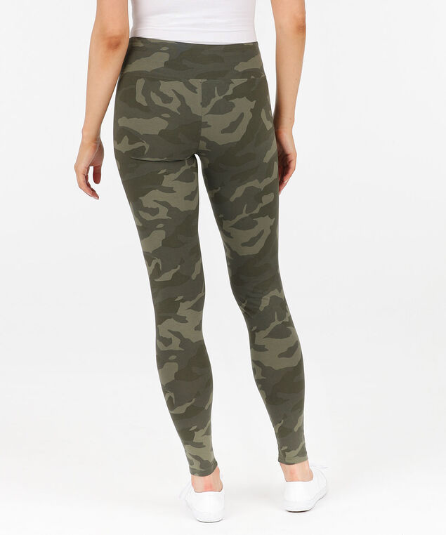 Camo Knit Legging, Olive, hi-res