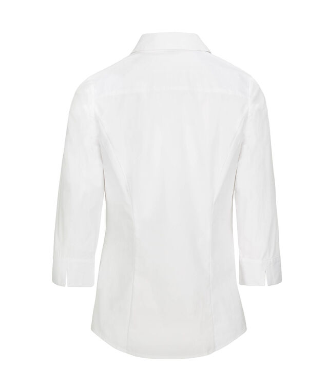 Button-Front Collared Shirt, True White, hi-res
