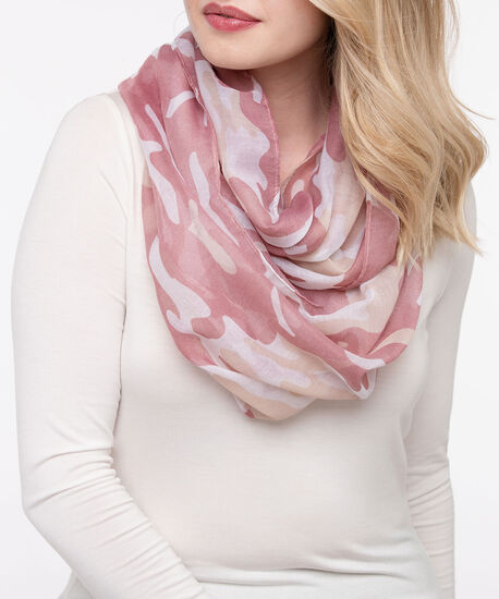 Camo Eternity Scarf, Petal Pink/Dusty Pink, hi-res