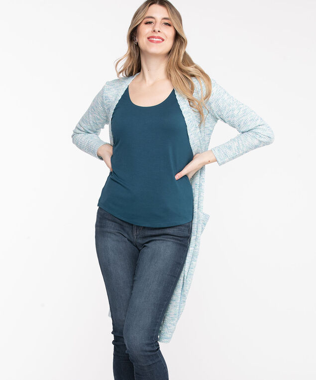 Built Up Double Layer Cami, Teal