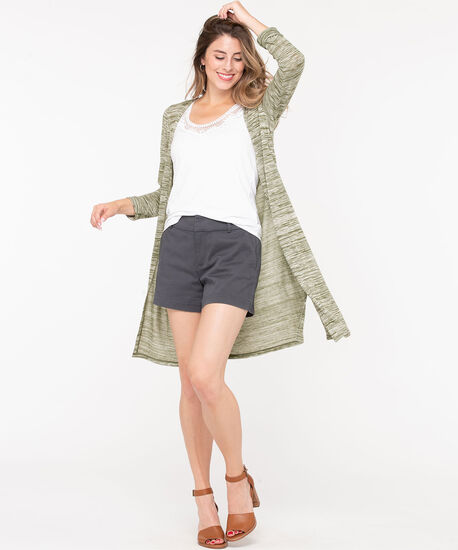 Long Sleeve Duster Cardigan, Green, hi-res