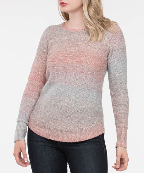 Curved Hem Ombre Sweater, Soft Pink/Dusty Blue/Heather Grey, hi-res
