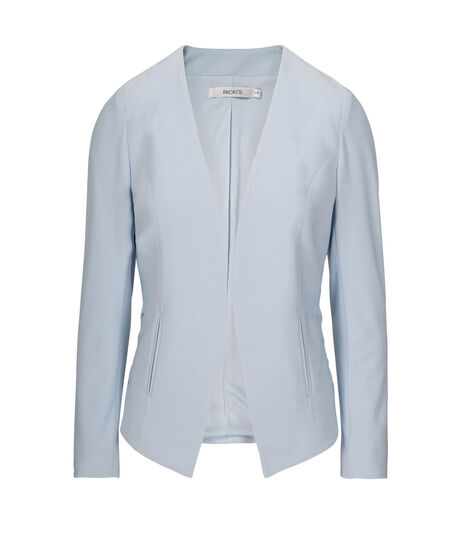 Side Lace-Up Easy Stretch Blazer, Pastel Blue, hi-res