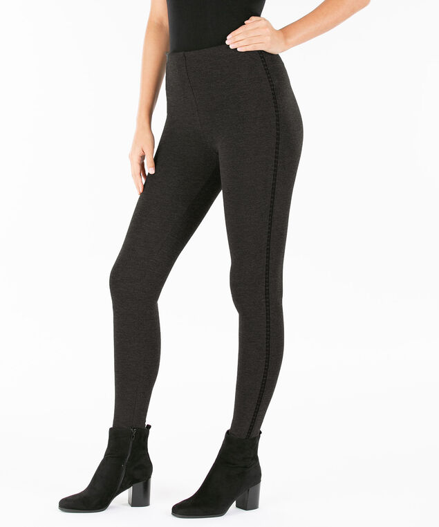 One5One Premier Ponte Legging, Charcoal, hi-res